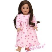 Longue chemise de nuit rose fleurie - Sophia's