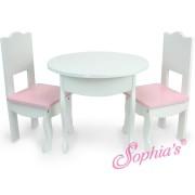 La Table et ses 2 chaises pour poupées - Sophia's