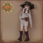 Ensemble Souvenir Combinaison et Chapeau pour poupée Rubyred 30 Cm