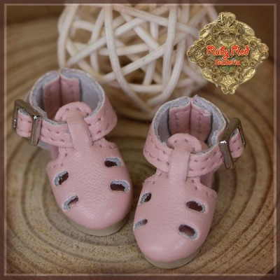 Chaussures cuir roses pour Yu Ping
