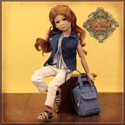 Poupée Yuma en style denim décontracté - Senson Doll 30 Cm