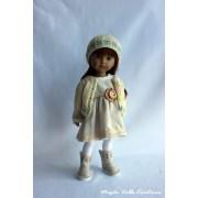 Tenue Lune de laine pour poupée Boneka