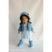 Tenue Oiseau bleu pour poupée Ten Ping