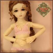 Ensemble Sous-vêtements roses pour poupée Rubyred 30 Cm