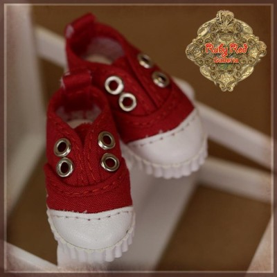 Baskets toile Rouge  pour Ten Ping - Ruby Red