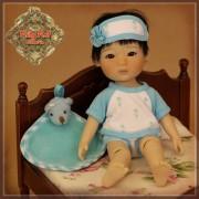 Ensemble Pyjama bleu pour Shan - Rubyred