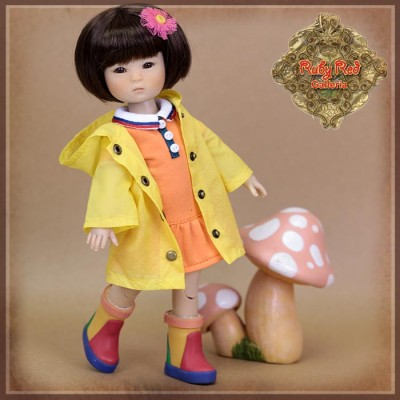 Vêtement de Pluie pour Ten Ping InMotion Girls -Rubyred