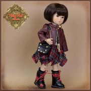Vêtement Grunge pour Ten Ping InMotion Girls - Rubyred