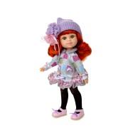Poupée My Girl Rousse Bonnet lilas - Berjuan