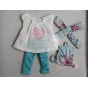 Vêtement Carol Blouse et leggings pour poupée Las Amigas - Paola Reina