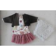 Vêtement Dasha top fleuri et jupe tulle pour poupée Las Amigas - Paola Reina