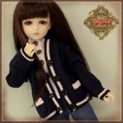 Cardigan marine pour poupée Rubyred 30 Cm