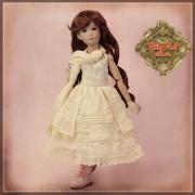 Tenue romantique Robe et foulard pour poupée Rubyred 30 Cm