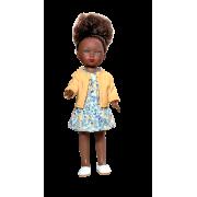 Carlota Africaine Robe fleurie et Gilet jaune - Vestida de Azul