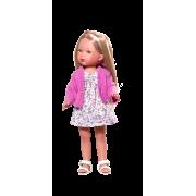Carlota Blonde Robe fleurie et cardigan rose - Vestida de Azul