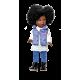 Paulina Africaine Pull blanc et Jeans - Vestida de Azul
