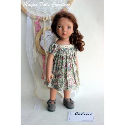 Tenue Coline pour Poupée Zwergnase 35 Cm - Magda Dolls Creations