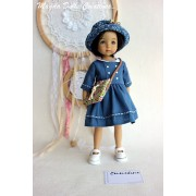 Ensemble Emmeline pour Poupée Little Darling - Magda Dolls Creations