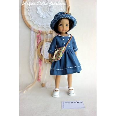Ensemble Emmeline pour Poupée Little Darling - Magda Dolls Creations