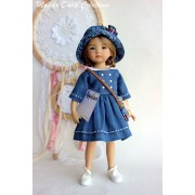 Ensemble Appoline pour Poupée Little Darling - Magda Dolls Creations
