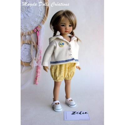 Ensemble Zelie pour Poupée Little Darling - Magda Dolls Creations