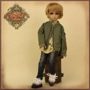 Tenue Boy Style Veste et Jeans pour poupée Rubyred 30 Cm