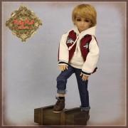 Tenue Boy Style Blouson et Jeans pour poupée Rubyred 30 Cm
