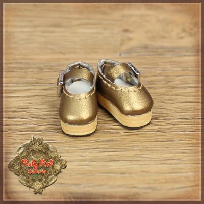 Chaussures ballerines dorées pour poupée Honee-B - Ruby Red