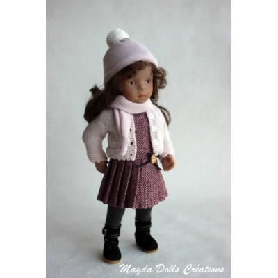 Ensemble Giulia pour Poupée Little Darling - Magda Dolls Creations