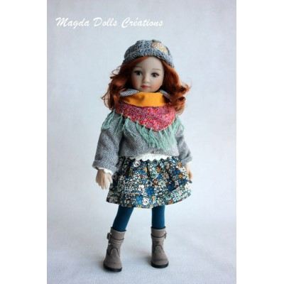 Ensemble Dalya pour Poupée Little Darling - Magda Dolls Creations