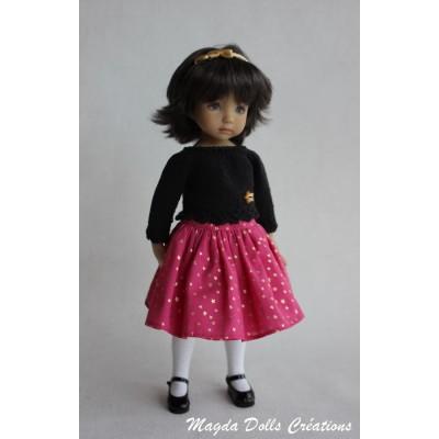 Ensemble Elena pour Poupée Little Darling - Magda dolls Creations