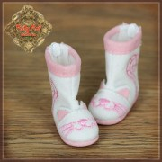 Bottes Kitty roses et blanches pour InMotion Girl - Ruby Red