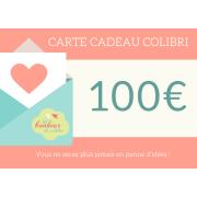 Carte CADEAU Colibri de 100 Euros
