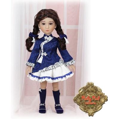 Ensemble Bleu et blanc poupée Girls of the Orient 38 Cm - Ruby Red