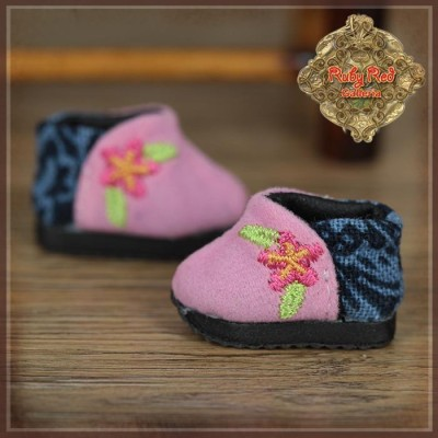 Chaussures Boots roses pour Yu Ping - Ruby Red