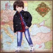 Tenue Boy Style Veste bleue et Jeans pour poupée Rubyred 30 Cm