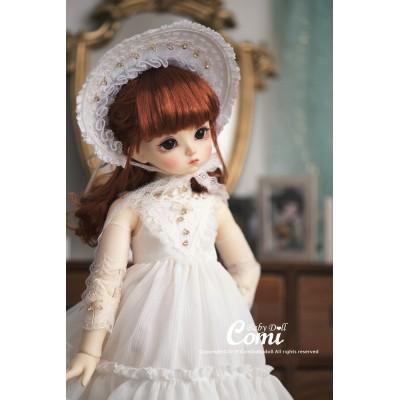 Poupée BJD Baby Lana Robe blanche 40 cm - Comi Baby Doll