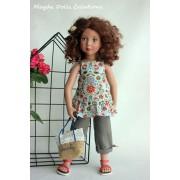 Tenue Lilas pour Poupée Zwergnase 50 Cm - Magda Dolls Creations