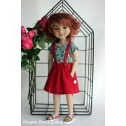 Tenue Coquelicot pour Poupée Fashion Friends 36 Cm - Magda Dolls Creations
