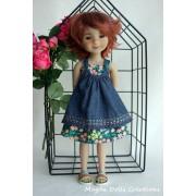 Tenue Hibiscus pour Poupée Fashion Friends 36 Cm - Magda Dolls Creations