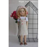 Tenue Rose de porcelaine pour Poupée Fashion Friends 36 Cm - Magda Dolls Creations