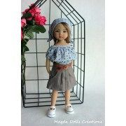 Ensemble Hortense pour Poupée Little Darling - Magda Dolls Creations