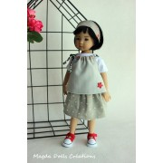 Ensemble Oiseau de Paradis pour Poupée Little Darling - Magda Dolls Creations