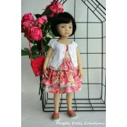 Ensemble Orchidée pour Poupée Little Darling - Magda Dolls Creations
