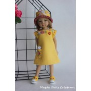 Ensemble Tulipe pour Poupée Little Darling - Magda Dolls Creations