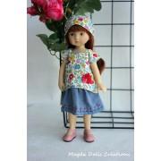 Tenue Fleur de Vanille pour poupée Boneka - Magda Dolls Creations