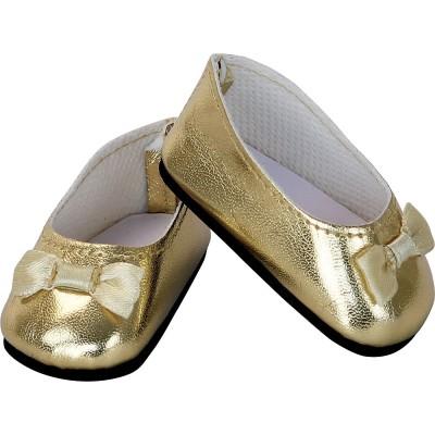 Ballerines dorées à noeud pour Finouche - Petit Collin