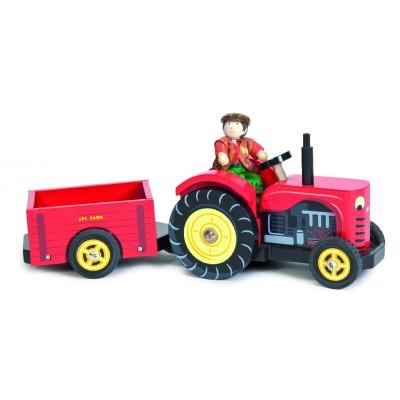 Le Tracteur rouge en bois de Bertie