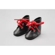 Bottines noires à lacets rouges pour Amigas - Paola Reina
