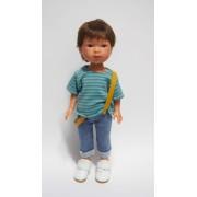 Albert Jeans bretelles et Tee-shirt - Vestida de Azul